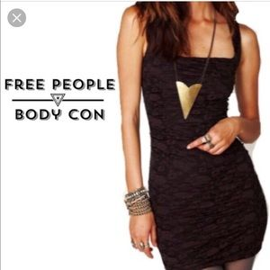 Fitted free people plum black dress